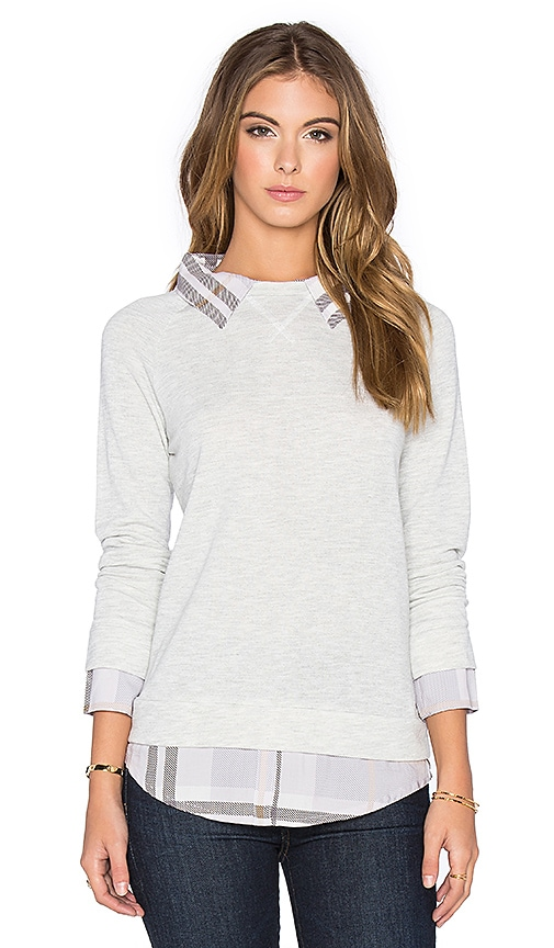 Soft Joie Diadem Pullover in Light Heather Grey & Iris