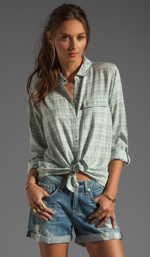 Onyx Plaid Button Up