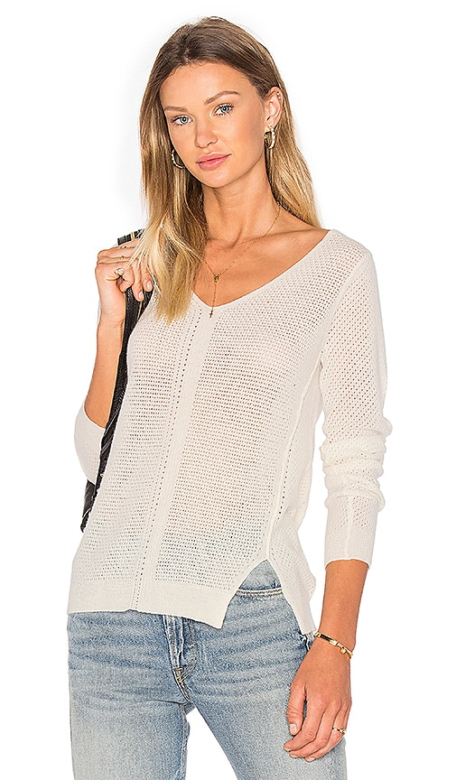 SOH V Neck Sweater in Ivory