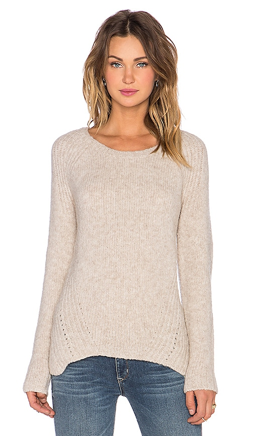 SOH Athena Felted Pullover Sweater in Almond Buff