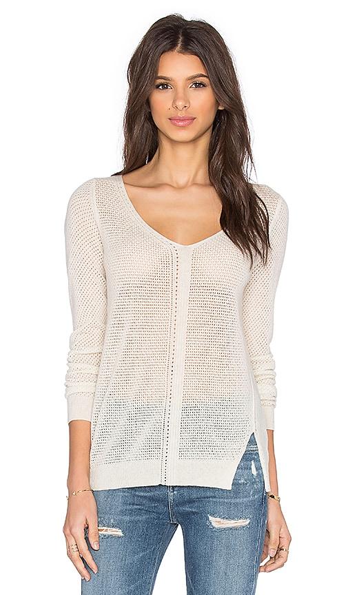 SOH V Neck Sweater in Bone