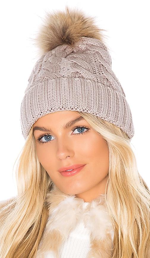 Amalie Beanie With Fur Pom