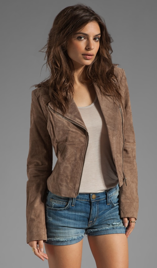 Lizzie Suede Leather Jacket