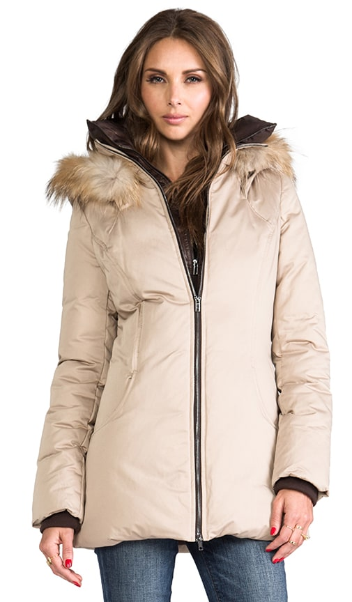 Clea Down Coat with Removable Fur Hood