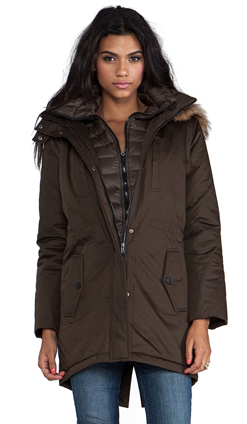 Elora Down Coat with Removable Fur Hood