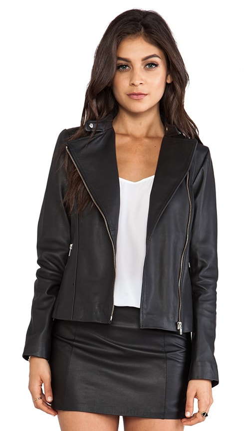 Dree Leather Moto Jacket