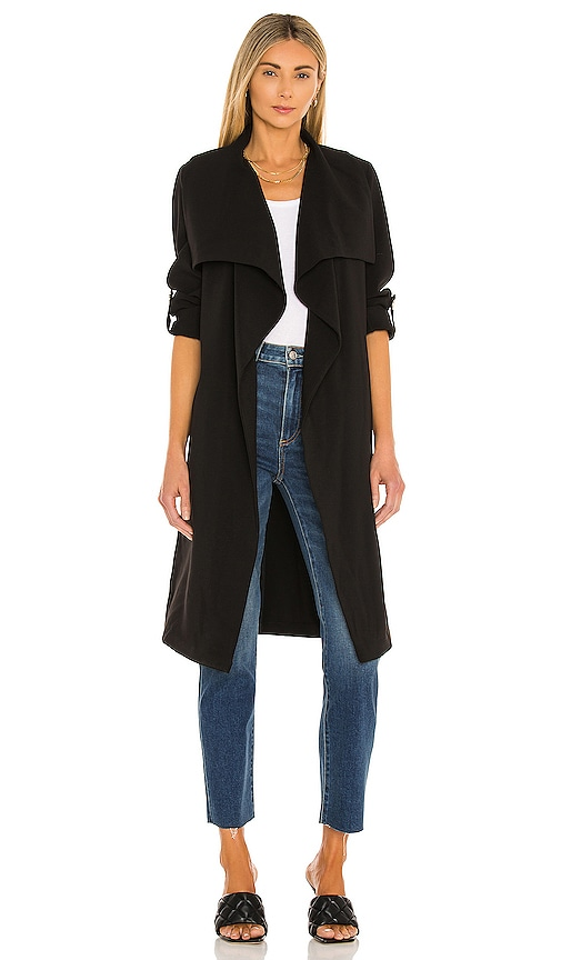 Soia & Kyo Ornella Trench Coat in Black