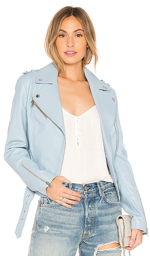 Soia & Kyo Kelsy Moto Jacket in Blue
