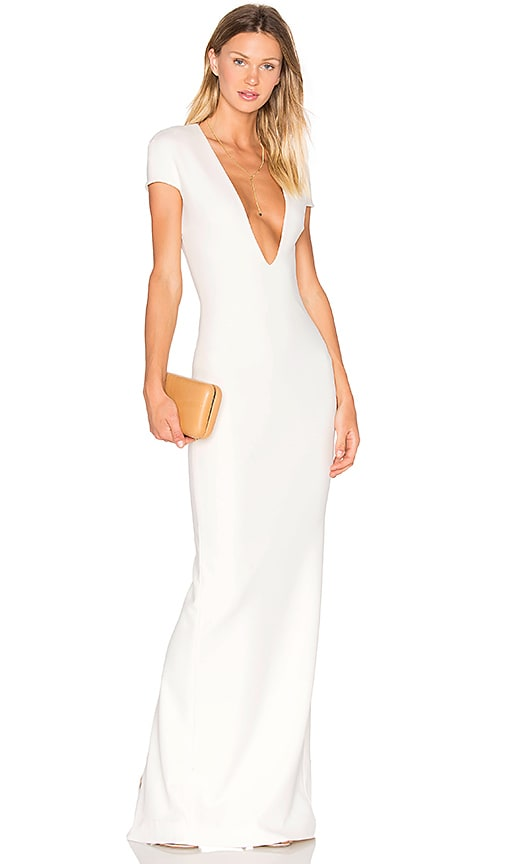 SOLACE London Mason Maxi Dress in White