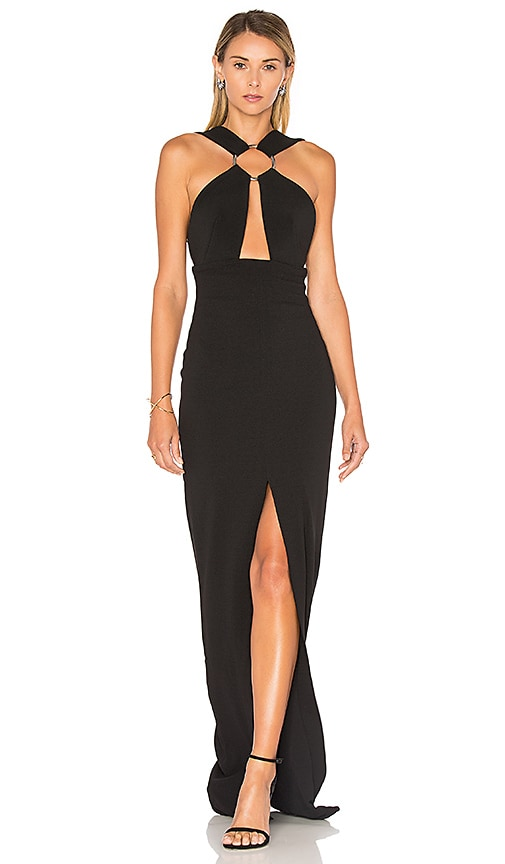 SOLACE London Kali Maxi Dress in Black
