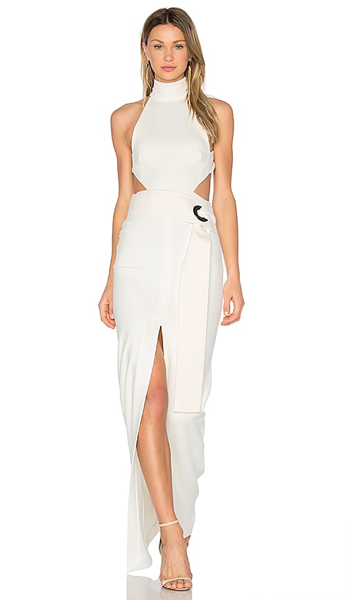 SOLACE London Piper Maxi Dress in White