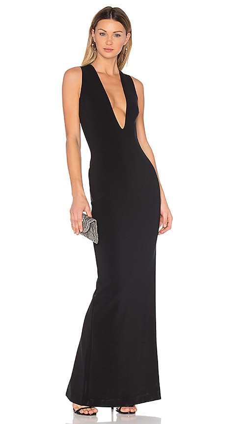 SOLACE London Grace Maxi Dress in Black