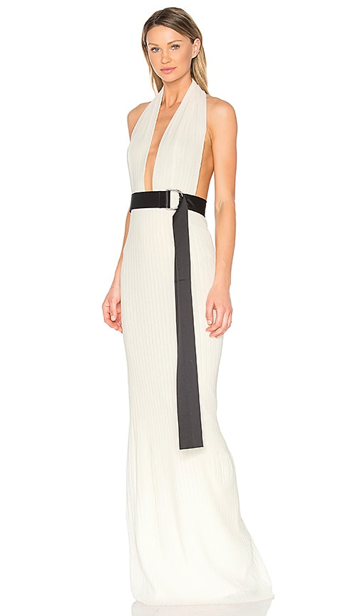SOLACE London Laryn Maxi Dress in White