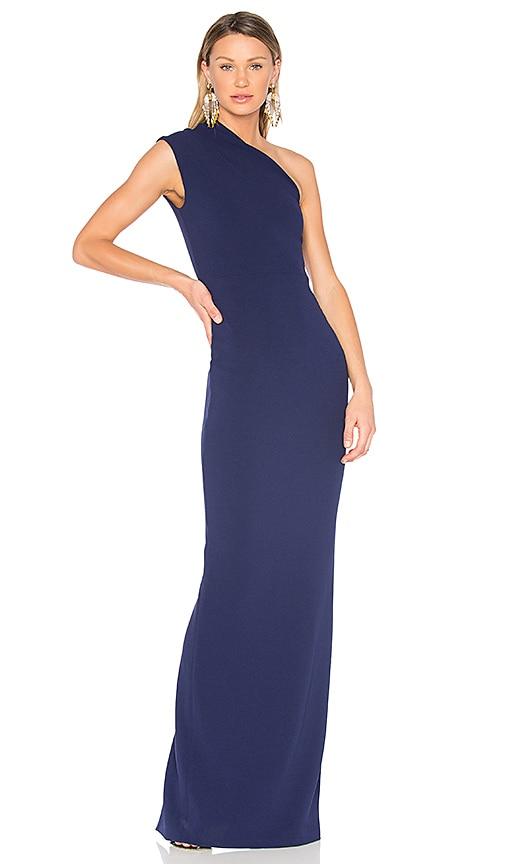 SOLACE London Luna Maxi Dress in Blue