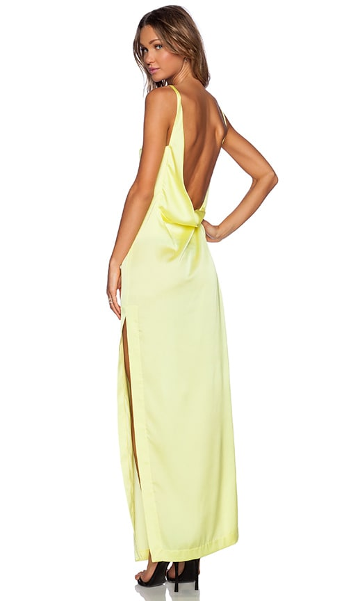 SOLACE London Roario Maxi Dress in Yellow
