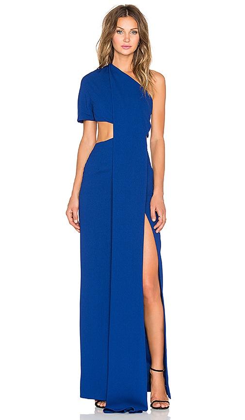 SOLACE London Sokari Maxi Dress in Blue