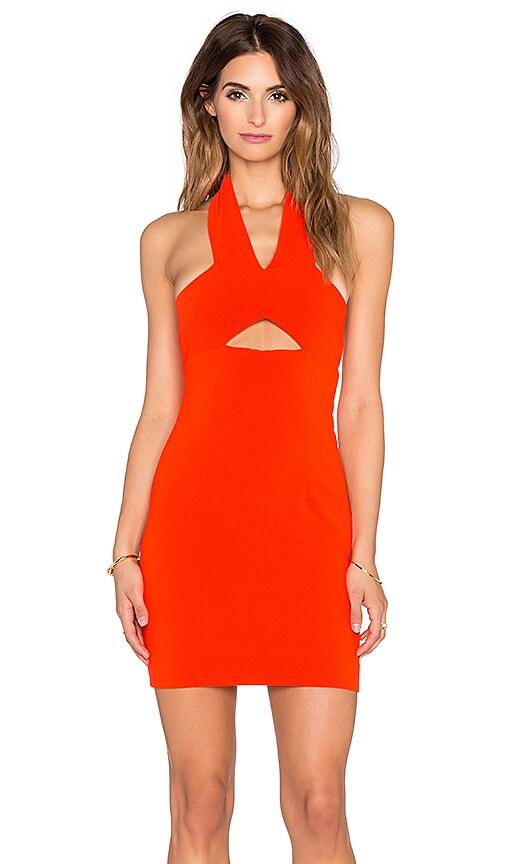 SOLACE London Emmi Mini Dress in Orange