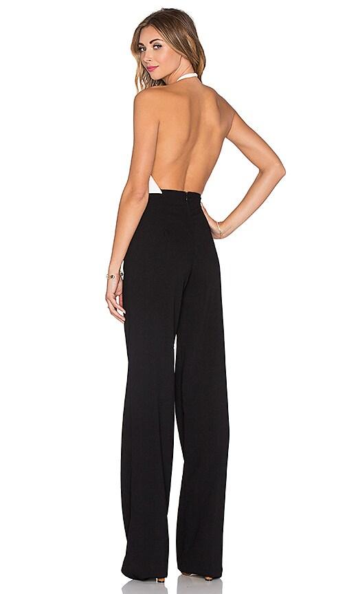 ba7f7292e2a SOLACE London Diane Jumpsuit in Cream   Black