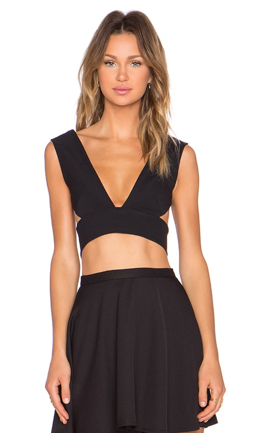 SOLACE London Ono Top in Black