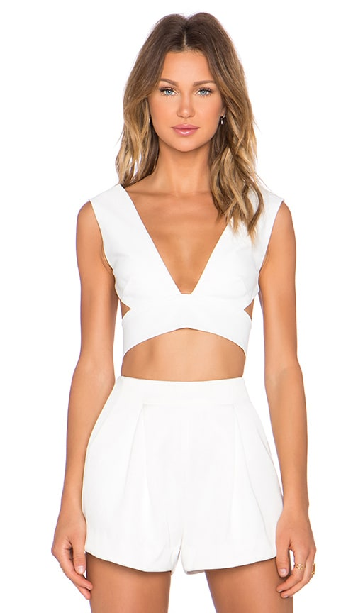 SOLACE London Ono Top in White