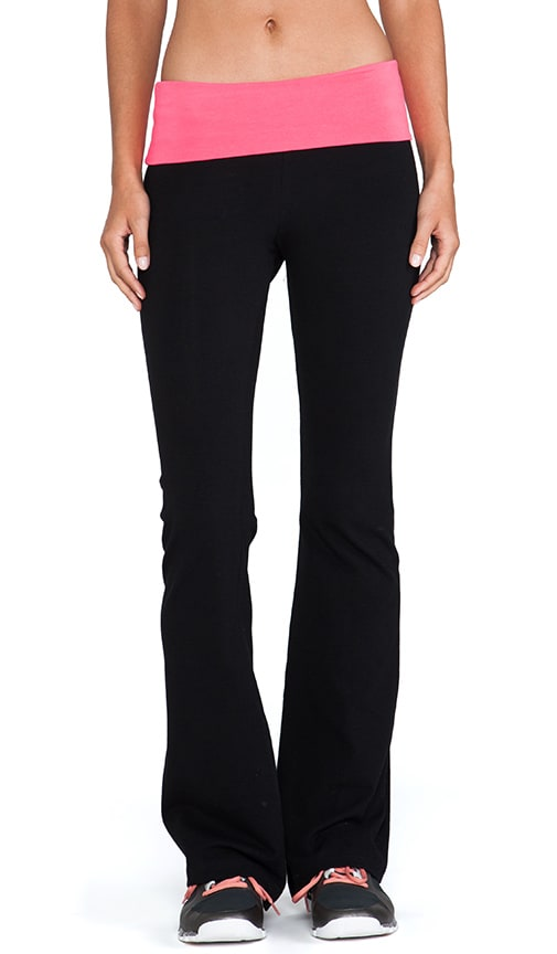Contrast Fold Over Pant