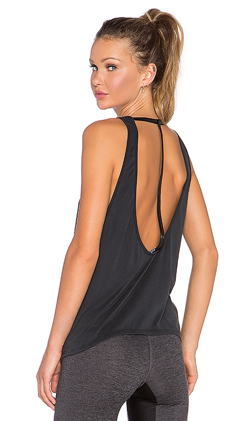 SOLOW Brushed T-Strap Tank in Black