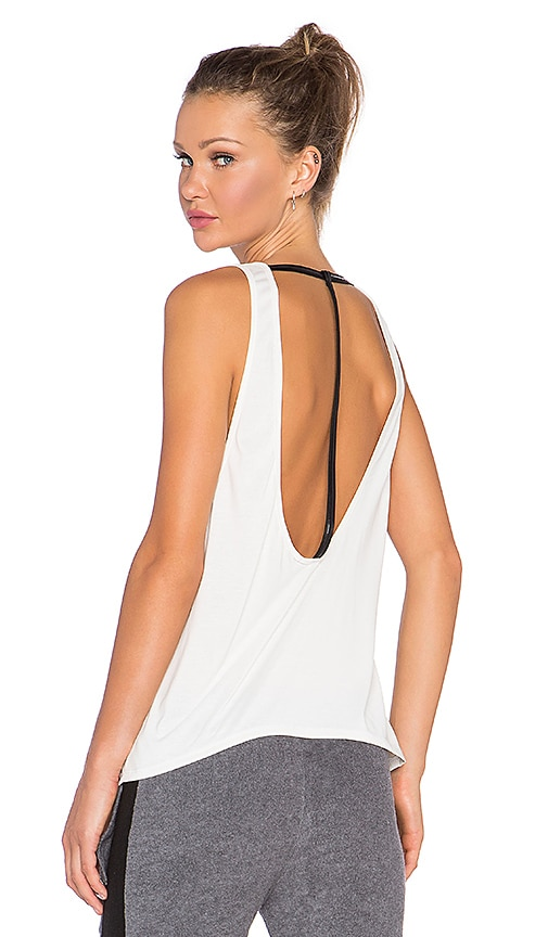 SOLOW Brushed T-Strap Tank in White