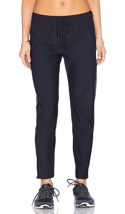 SOLOW Athletic Cut Out Track Pant in Black