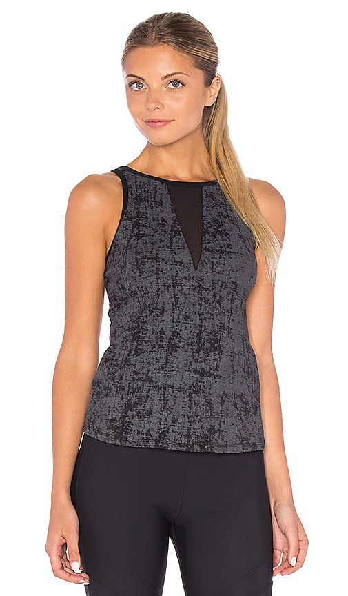 SOLOW Embossed Sport Tank in Charcoal