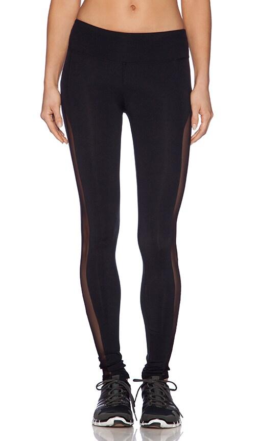 79e3592fc9 SOLOW Legging with Mesh Tuxedo Stripe in Black   REVOLVE