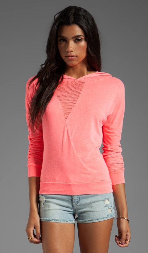 Graphic Mesh Dolman Pull Over