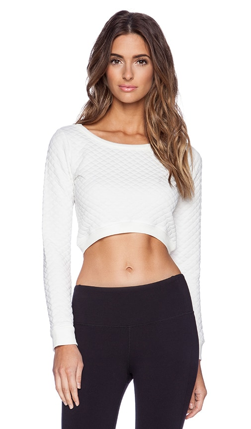 Quilted Cropped Sweatshirt