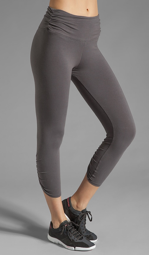 Shirred Contrast Band Legging