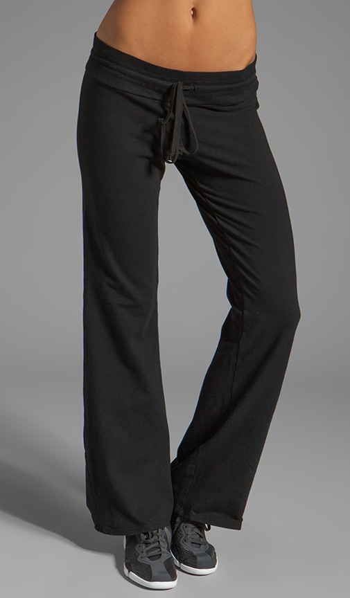 Basic Drawstring Wide Leg Pant