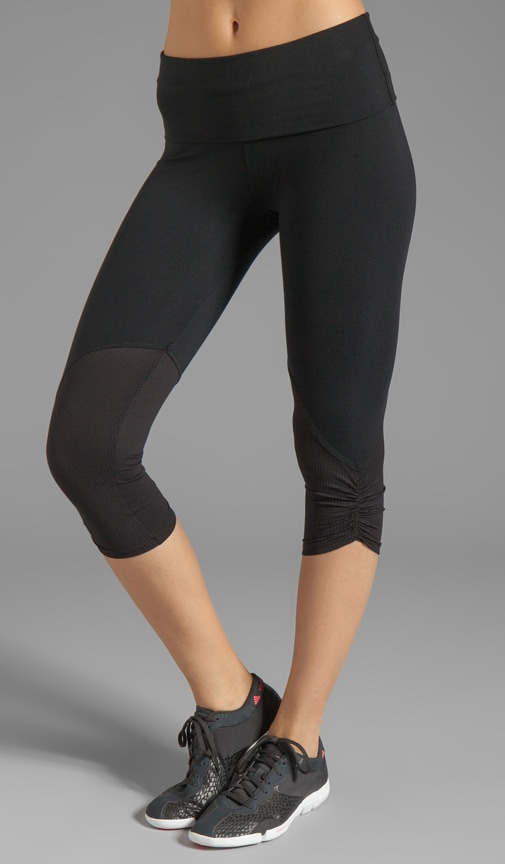 Eclon Crop Legging with Tonal Mesh