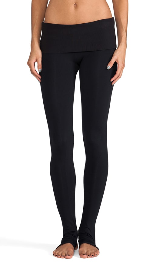 Eclon Legging with Footholes & Fold Over Waistband