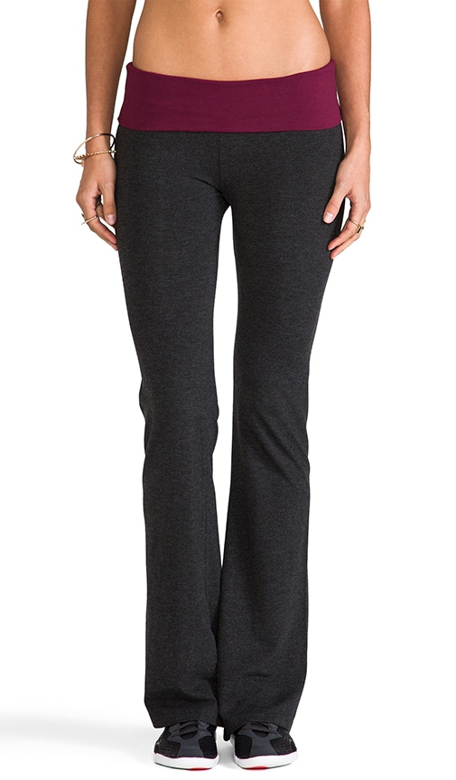 Basics Contrast Fold Over Pant
