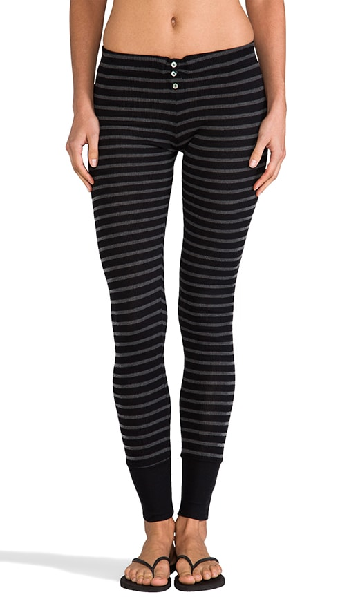 Stripe Thermal Button-Up Legging