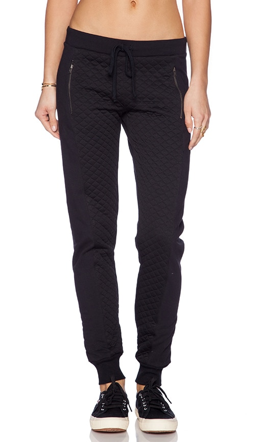 Quilted Slim Slouch Pant