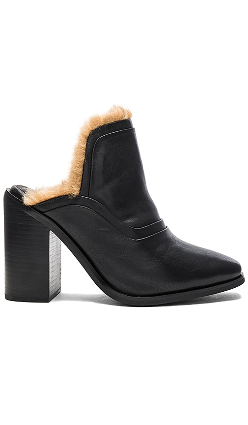 Sol Sana Fever Mule with Faux Fur Lining in Black
