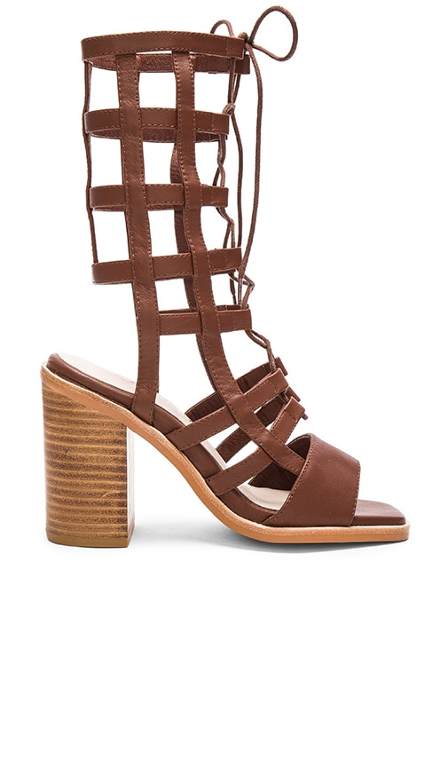Sol Sana Ebony Heel in Chestnut