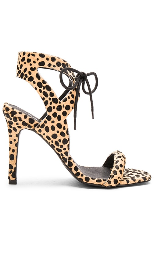 Sol Sana Denver Cow Hair Heel in Leopard Pony