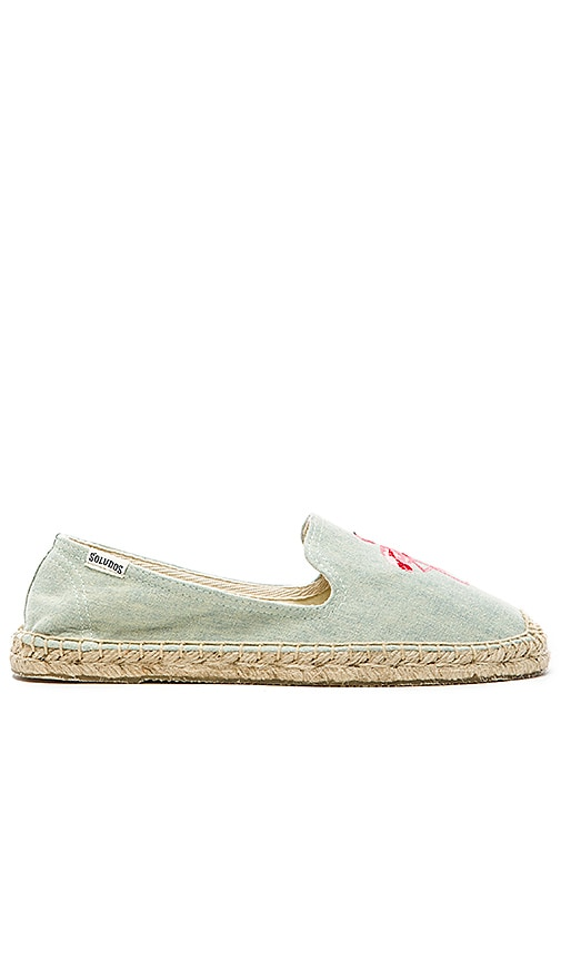 Flamingo Embroidered Espadrille