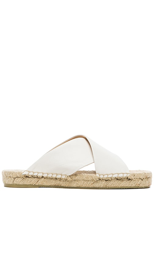 Criss Cross Platform Leather Sandal