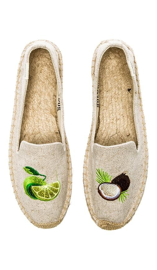 Lime & Coconut Embroidered Espadrille