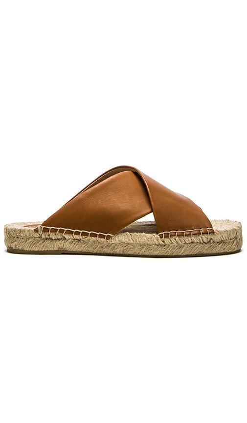 Soludos Criss Cross Platform Sandal in Tan