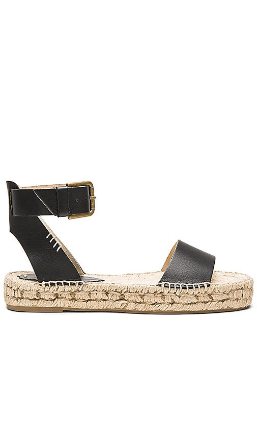 Soludos Platform Open Toe Sandal in Black