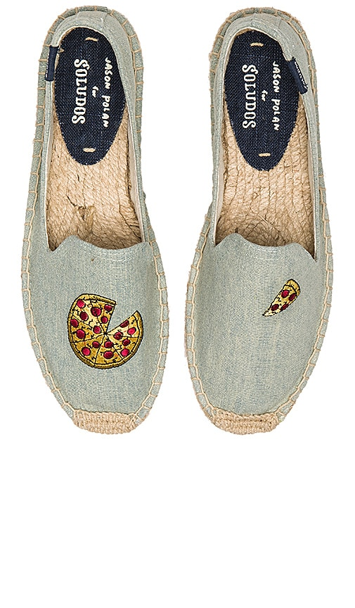 Pizza Embroidery SM Slipper