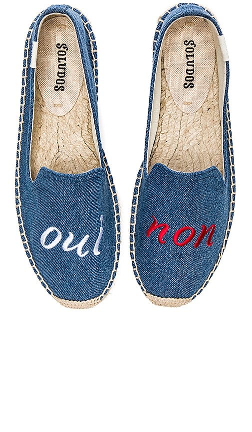 Oui Non Embroidered Smoking Slipper