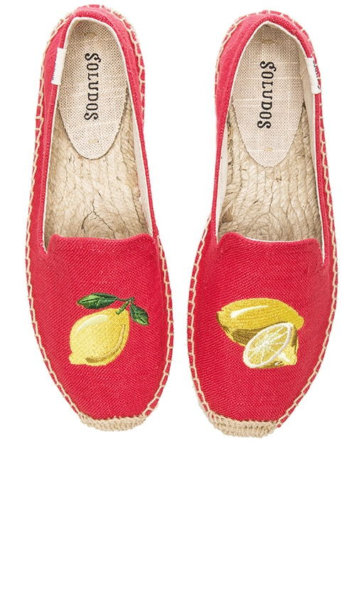 Lemons Embroidered Smoking Slipper